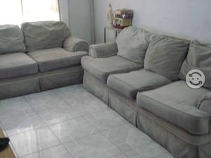 Sala sillon grande y love seat color gris