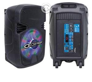 Bocina bafle amplificado 2000w con micrófono mitzu