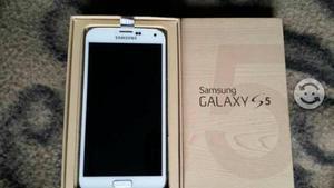 Samsung s5 casi nuevo caja huella cargador origina