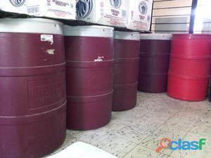 Tambos de plastico 200 litros abiertos