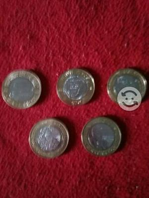 Monedas coleccionables de 20 pesos, estan nuevas