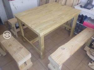 Fabricasion de mesas, sillas & bancas
