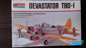 Avión a escala para armar devastator tbd 1 monogram 1/48