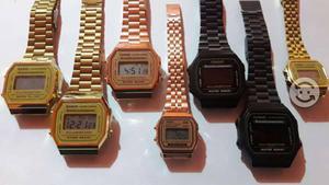 ddc28257d3a1 Relojes casio dorado rosa negro mate mini rose