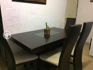 Comedor de 6 sillas,chocolate $3,300