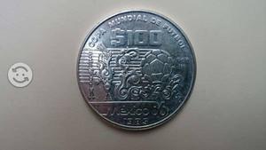 Moneda $100 de plata del mundial de f