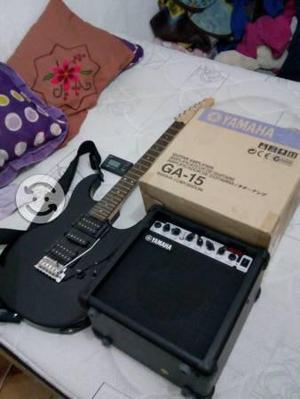 Guitarra electrica yamaha con ampli y afinador