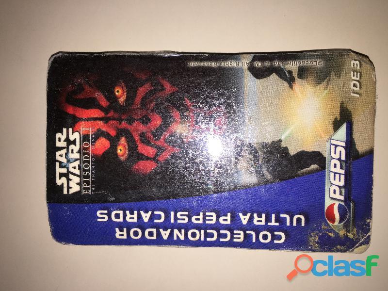 Colección pepsi con tarjetas de star wars