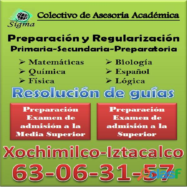 Curso de regularización: primaria, secundaria y prepa