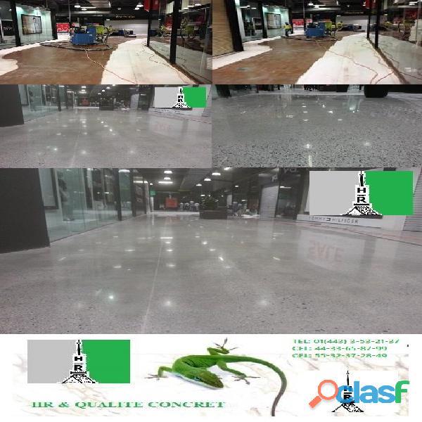 Pulidos abrillantados reparaciones restauraciones de pisos de concreto y mas pisos...