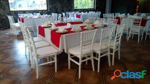 Renta de mesas con sillas