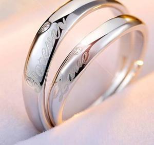 2da07f8b2446 2 anillos promesa plata 925 amor novios forever love romanti