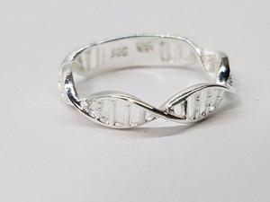 90fda5e66674 Anillo adn plata ley.925 anillo genético joyeria en México ...