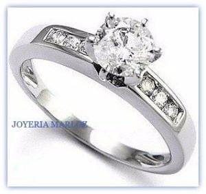 Anillo compromiso 14kt.60ct diamantes naturales de mina 060