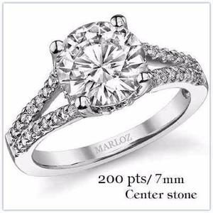 Anillo compromiso 18kt 150ct forever brilliant laterales cz
