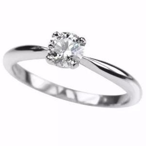 Anillo compromiso blanco 14k diamante natural de mina.12ct
