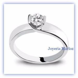 Anillo compromiso blanco 18k diamante natural.12ct 2012