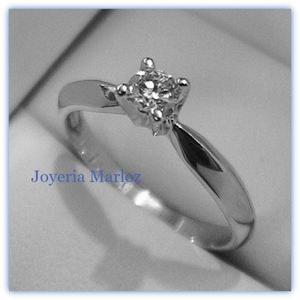 f2a0221137fe Anillo compromiso diamante natural.15ct oro 14kt 001