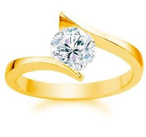 Anillo compromiso oro 10kt diamante ruso envio gratis