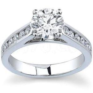 Anillo compromiso oro 14kt diamante ruso mod 045