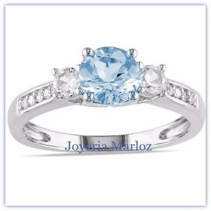 c4adc9792341 Anillo compromiso oro blanco 14kt diamante ruso gxy-14-czaq en ...