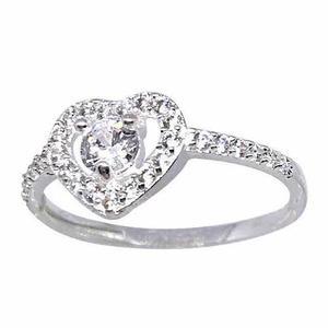 6463406e3c66 Anillo compromiso plata 925 oro 24kt y rodio corazón boda en México ...