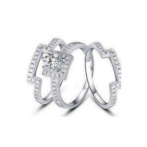 208f2510e714 Anillo compromiso y churumbelas zirconias cúbicas plata 925 en ...