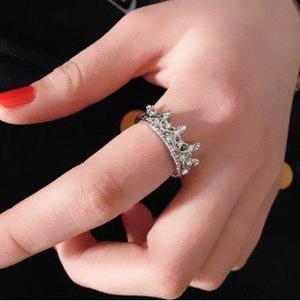 Anillo corona princesa reina mujer novia color plata d rodio 08e8ca2649e