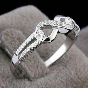 608814644bb1 Anillo de compromiso boda plata ley.925 para mujer