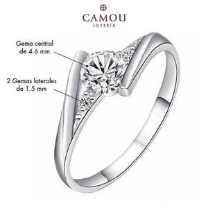 92f39fed31f2 Anillo de compromiso plata esterlina 925 con diamante zc niv en ...