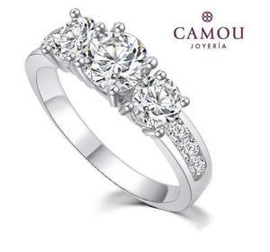 0e13fc32376b Anillo de compromiso plata ley 925 con varios diamante zc en México ...