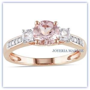 1d88704c83a7 Anillo oro rosa 14kt diamante ruso 3.5gr pink