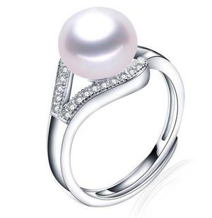 a99ca51a36b5 Anillo perla natural aaa plata s925 novia regalo