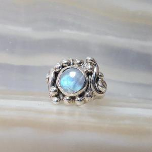 8e5aac9b7b78 Anillo piedra luna. plata 925  7 modelo 343