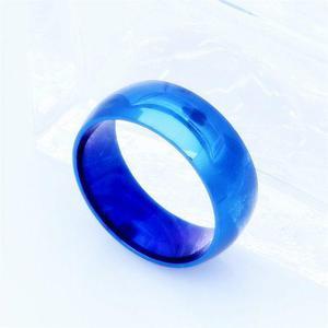 Anillo titanio anillo titanio tungsteno negro acero hombre