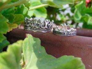 Anillos corona para pareja. plata925. varias tallas