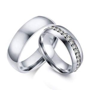 Anillos de pareja compromiso de acero inoxidable env gratis