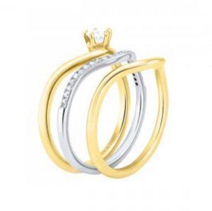036869f159a7 Anillos oro rosa macizo 14k con diamantes naturales 0.16cts.