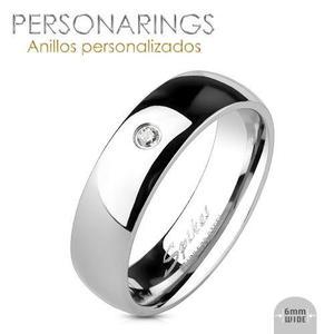 596f674b339e Anillos pareja grabado personalizado acero inoxidable par en México ...