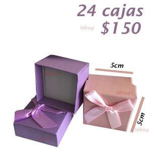 6eaaa6a3a03e Caja de regalo para dije bisuteria anillos oro plata 24 pza
