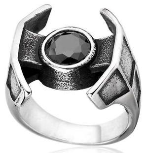 Nave espacial star wars anillo acero inoxidable 316l #9