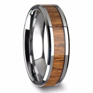 d959d0d0989e Regalo papá esposo anillo hombre amor acero madera