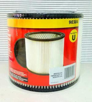 Shop vac filtro cartucho para aspiradora de 5 gal. tipo u