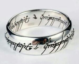 The Lord Of The Rings Anillo Unico Del Amor En Oro Blanco18k