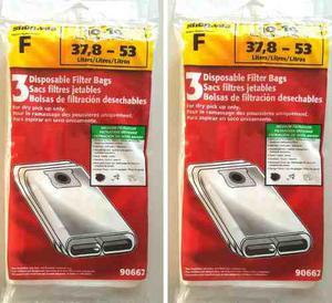Shop vac 6 bolsas filtro desechables de 10-14 galones tipo f