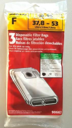 Shop vac bolsas filtro desechables de 10-14 galones tipo f