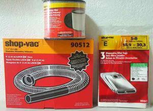 Shop vac kit para aspiradora filtro + manguera + 3 bolsas !!