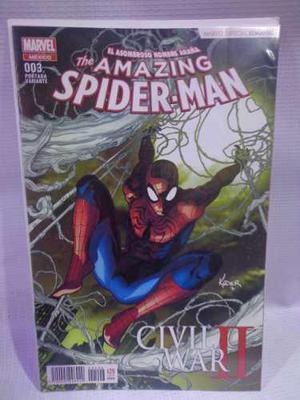 Amazing spider-man vol.3 variante civil war 2 televisa 2016