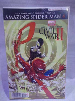 Amazing spider-man vol.4 civil war 2 televisa 2016