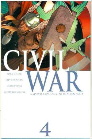 Civil war 4 marvel comics ironman capitan america